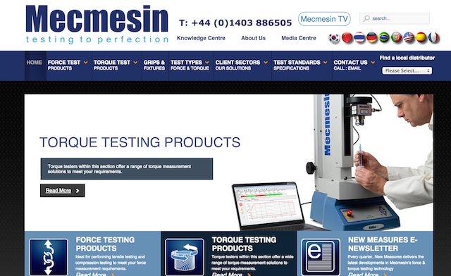 Mecmesin website